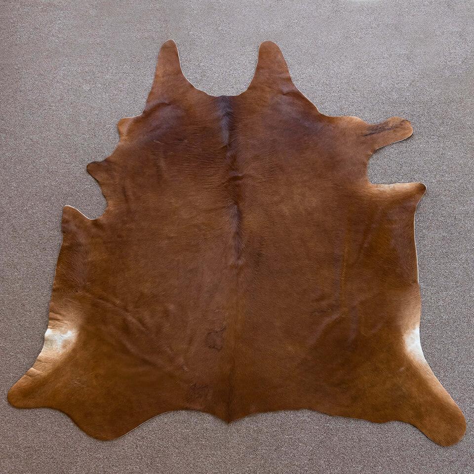 Solid Reddish Brown Cowhide