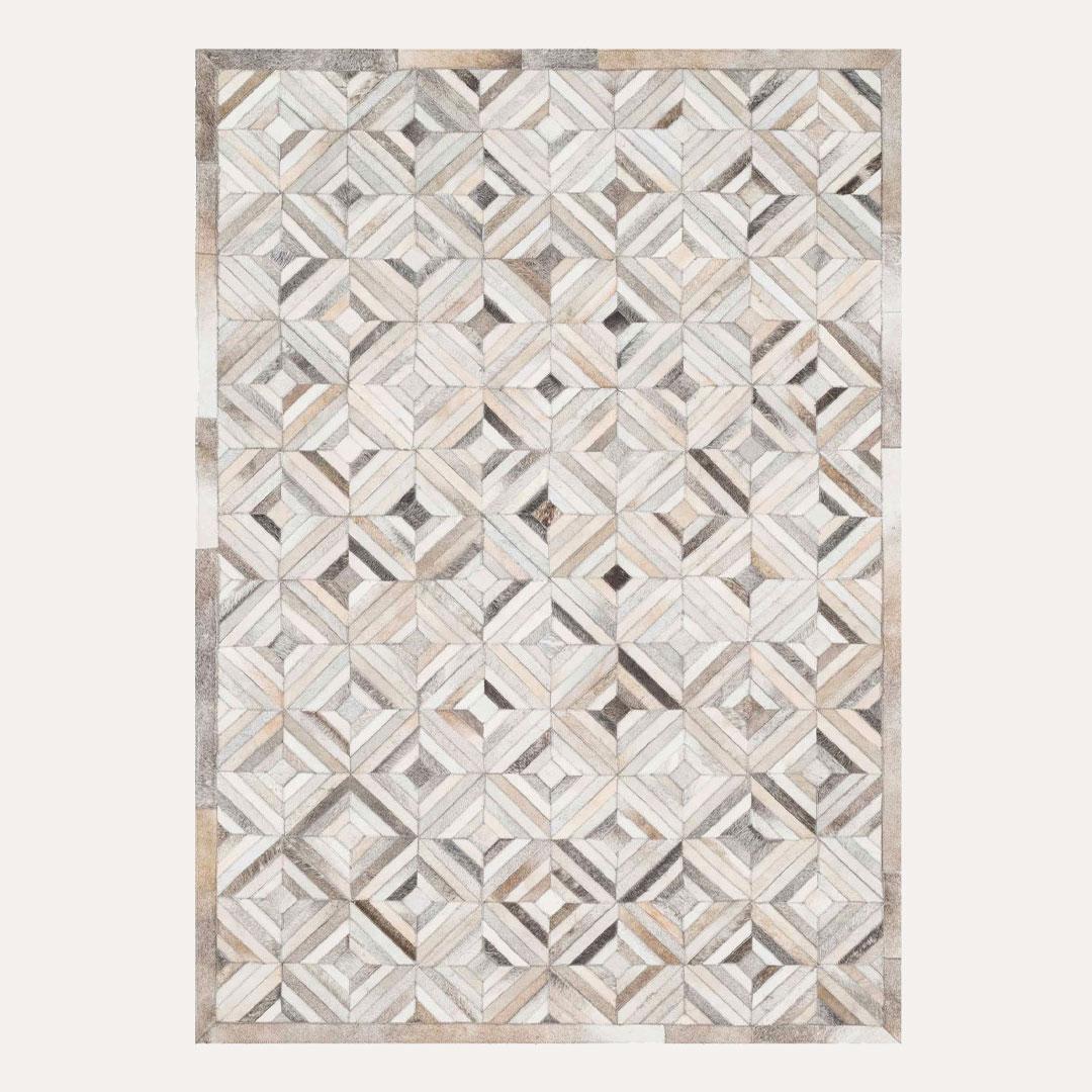 Lodestone Prism Rug - Leather